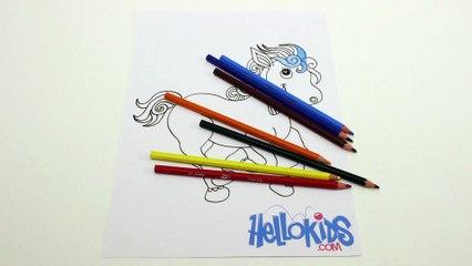 Das Pferd, das Farbe geändert