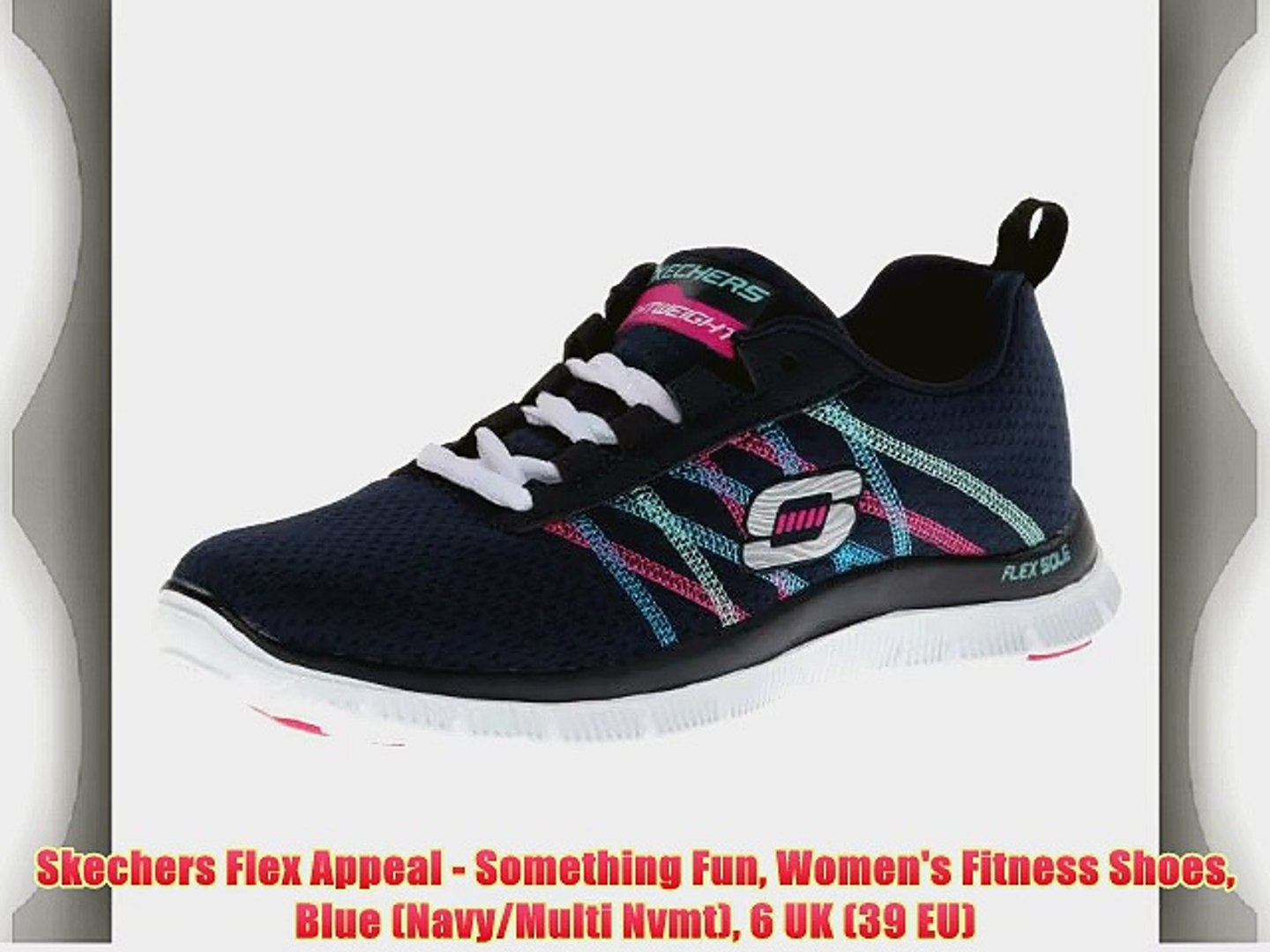 Skechers Flex Appeal Something Fun Women's Fitness Shoes Blue (NavyMulti Nvmt) 6 UK (39