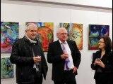 Exposition a Langonnet 2015, Vernissage Langonnet, Yvette Vernier Bregardis, Yvon le Bourhis,  Manfred La-Fontaine,