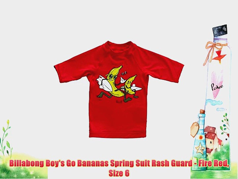 Billabong Boys Go Bananas Spring Suit Rash Guard