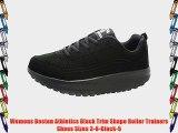 Womens Boston Athletics Black Trim Shape Roller Trainers Shoes Sizes 3-8-Black-5