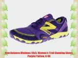 New Balance Minimus 10v3 Women's Trail Running Shoes Purple/Yellow 6 UK