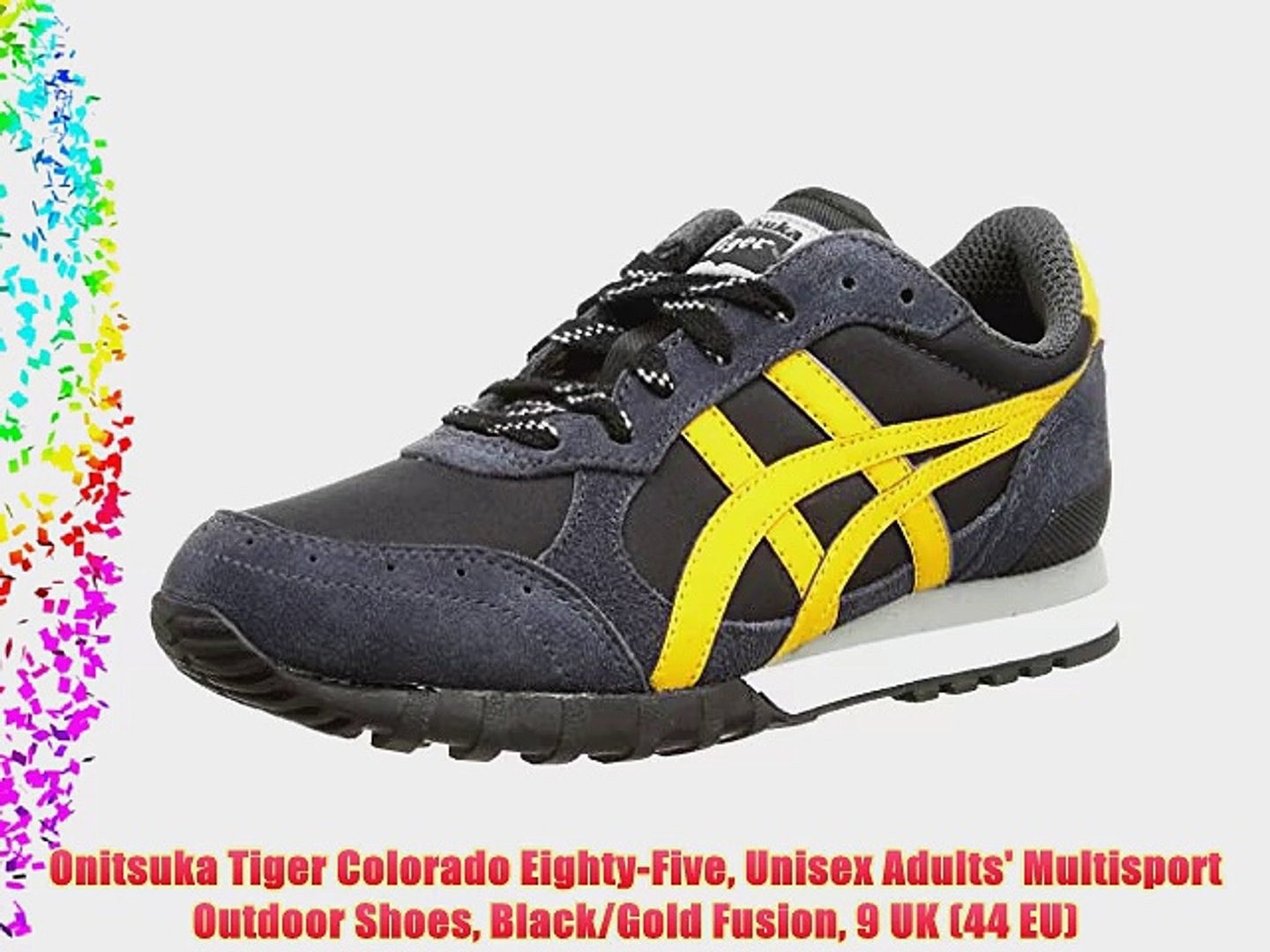 huge selection of 7db4d 4792d Onitsuka Tiger Colorado Eighty-Five Unisex Adults' Multisport Outdoor Shoes  Black/Gold Fusion