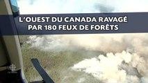 L'ouest du Canada ravagé par 180 feux de forêts