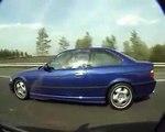 m3 E36 vs fiat coupe 20v turbo streetracing in fra