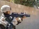 Soldier in Iraq Fires M203 Grenade Launcher