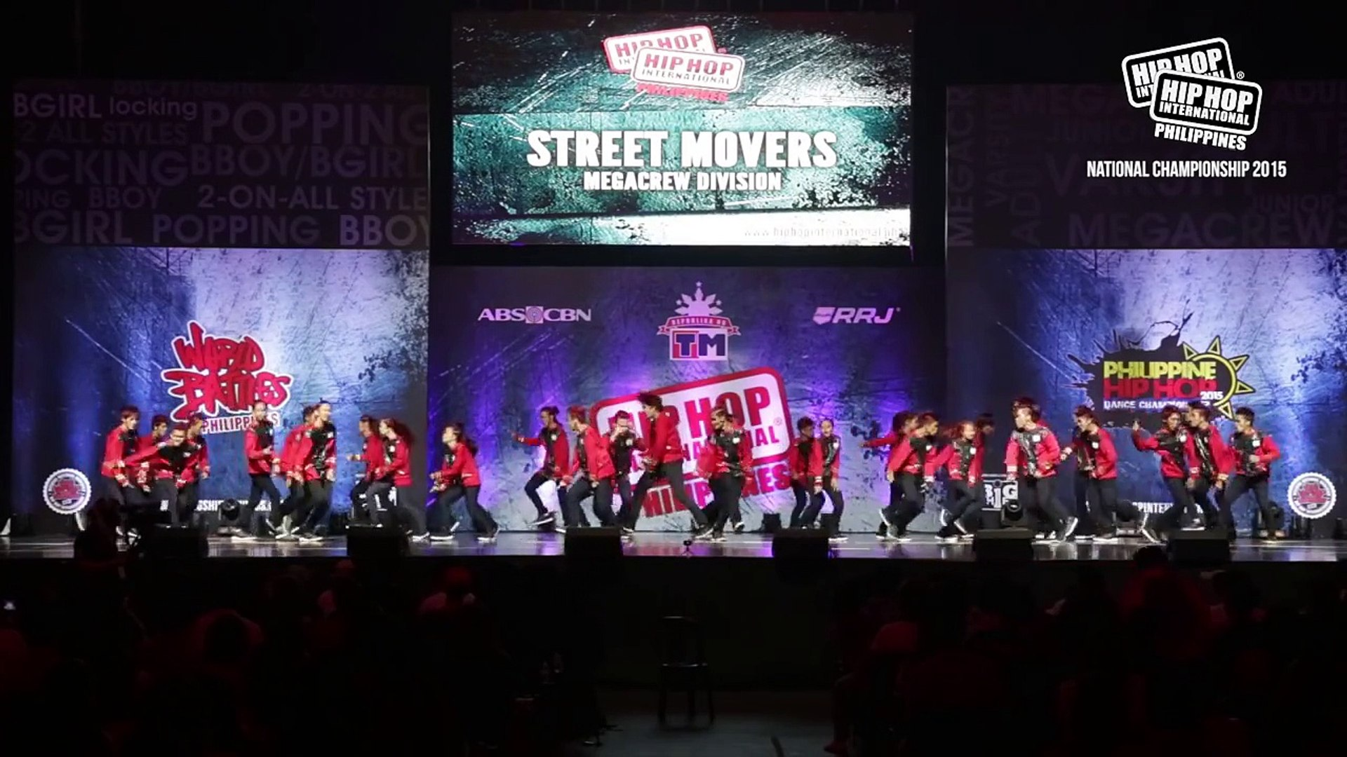 STREET MOVERS - MegaCrew Division | 2015 Philippine Hip Hop Dance  Championship