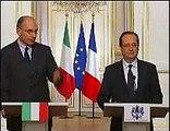 FRANCE LETTA HOLLANDE CONFERENCE ( Letta incontra Hollande: obiettivo e la crescita )