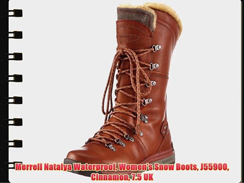 1da503cd Merrell Natalya Waterproof Women's Snow Boots J55900 Cinnamon 7.5 UK