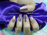 Stamping Nail Art Design ❖ Purple On Gold with Swirls Inspired ❖ Makeup Tutorial