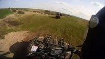 ATV Crash, CF Moto  Atlas 500 Explorer inkl. Sturz