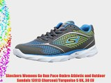 Skechers Womens Go Run Pace Ombre Athletic and Outdoor Sandals 13913 Charcoal/Turquoise 5 UK