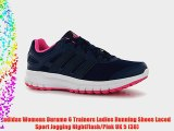 adidas Womens Duramo 6 Trainers Ladies Running Shoes Laced Sport Jogging NightFlash/Pink UK