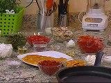 Receta para preparar Pechugas de Pollo Cubiertas de Rajas