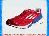 ADIDAS adiZero Feather 2 Ladies Running Shoes Pink UK5.5