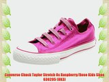 Converse Chuck Taylor Stretch Ox Raspberry/Rose Kids Shoe 630295 (UK3)