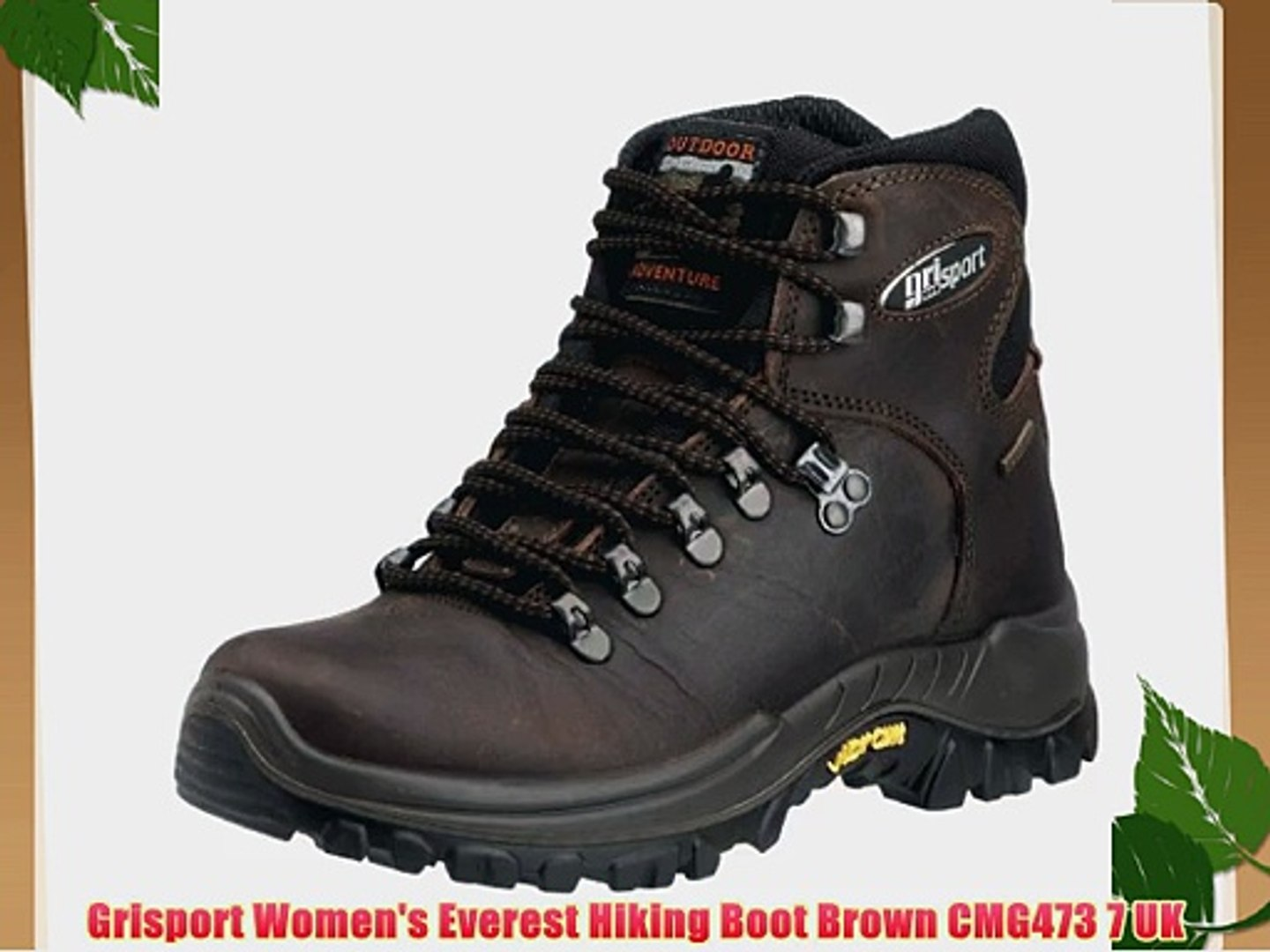 630398c8c20 Grisport Women's Everest Hiking Boot Brown CMG473 7 UK - video dailymotion