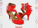 Abby Q-6110 Womens Latin Cha-cha Tango Ballroom Party 4 Inch Heel Dance Shoes UK Size1.5