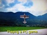 Amazing Torque Roll RC Plane Multiplex AcroMaster 3D Hover Almost Crash 3D Aerobatics Reflex XTR