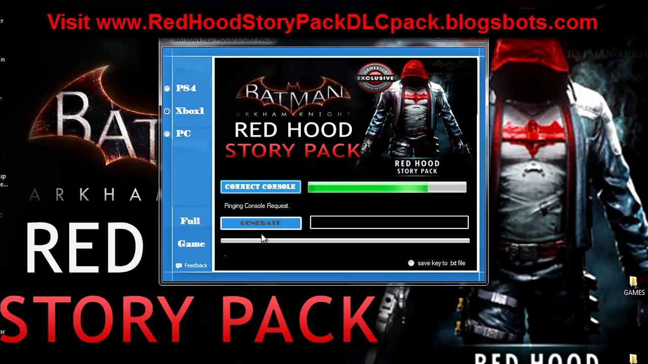 Batman Arkham Knight Red Hood Story Pack DLC Redeem Code Generator