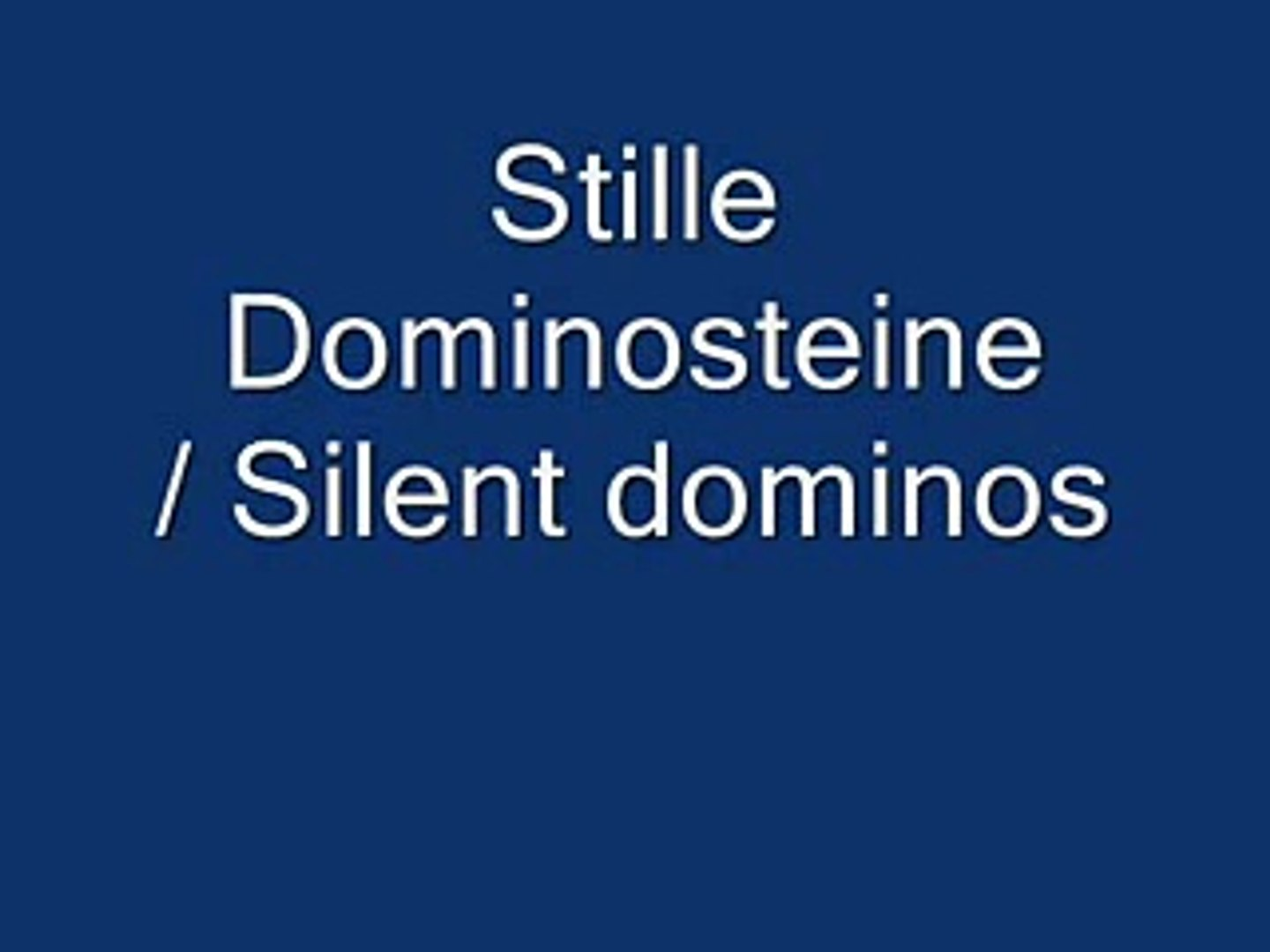 Silent dominos / like Domino Day 2000 2004 2007