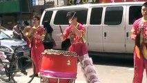 New York NYC Chinatown Brooklyn Lion dance drumming 2014