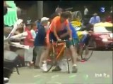 Pires accidents : Chute de Lance Armstrong TDF 2003
