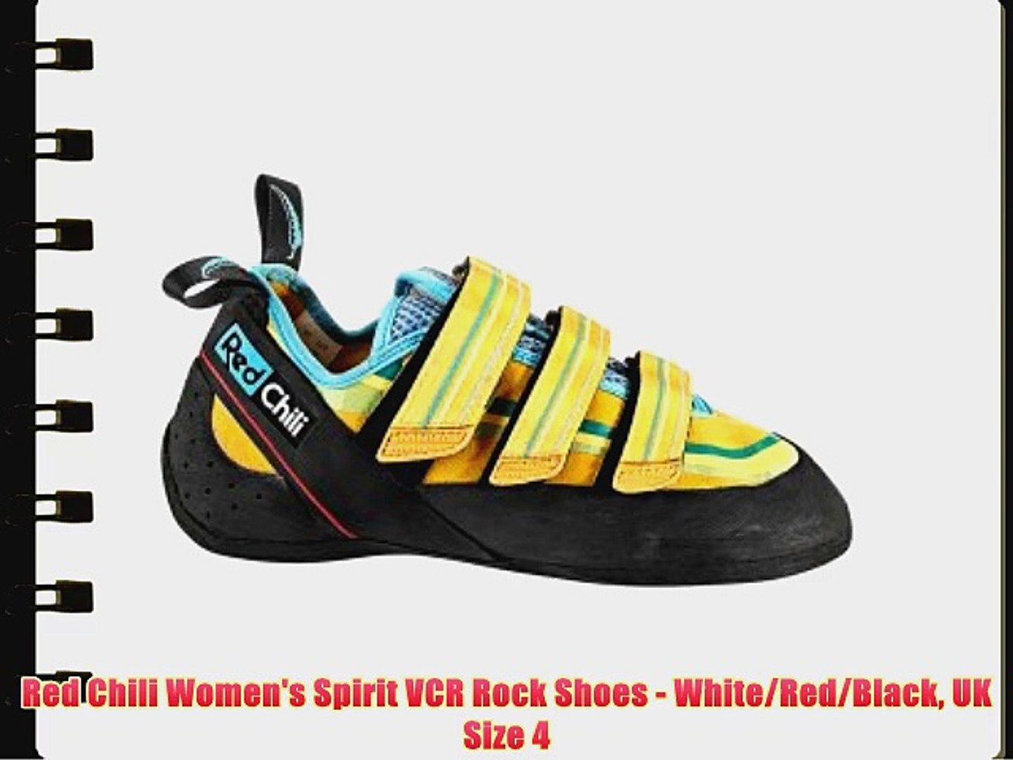 Red Chili Women's Spirit VCR Rock Shoes - White/Red/Black UK Size 4