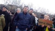 Odessa demos March 3rd - man argues with Ukraine police