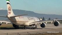 Etihad Airways A340-500 take off rwy23 at Geneva Cointrin [GVA/LSGG]