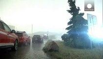 Tormentas, granizo y un tornado en Alemania en plena ola de calor en Europa