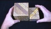 Unusual Japanese puzzle box 3.5 Sun Cube 10 Step Drawer