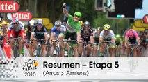 Resumen - Etapa 5 (Arras Communauté Urbaine > Amiens Métropole) - Tour de France 2015