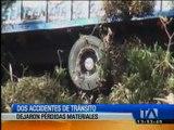 Dos accidentes de tránsito dejan pérdidas materiales