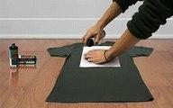 How to make a stencil t-shirt. CIOOMOYOKO.com