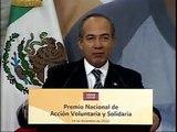 Premio Nacional de Acción Voluntaria y Solidaria 2010 - Presidente Calderón
