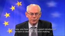 Boodschap Herman Van Romuy aan het Model Europese Parlement