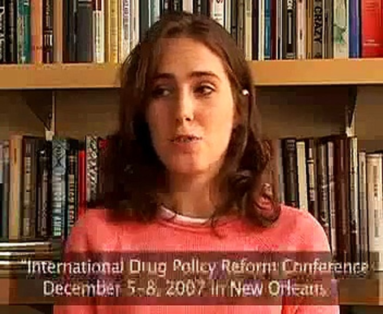 Stefanie Jones introduces 2007 Int'l Drug Policy Conference