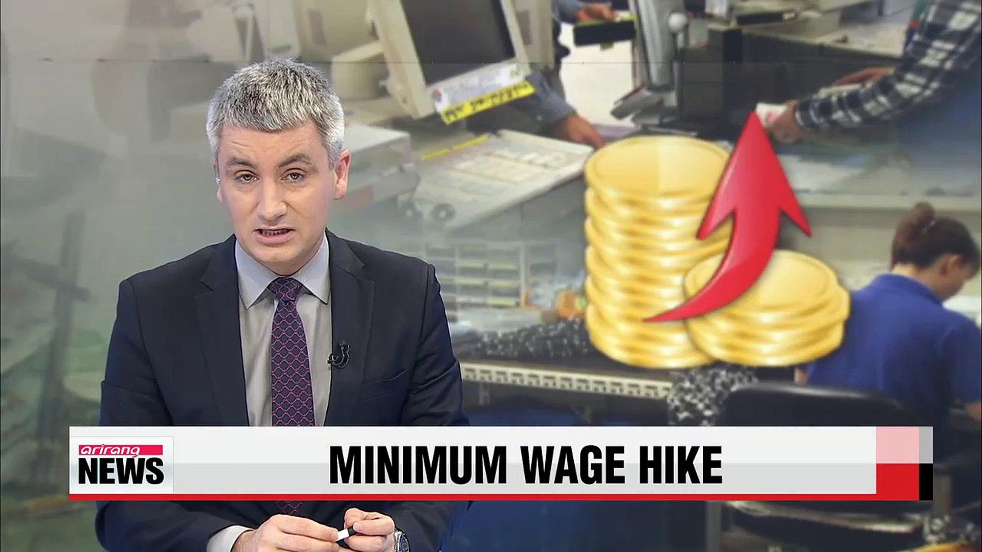 Minimum wage to be raised 8.1 pct. to 6,030 won next year
