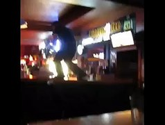dude does the pee wee herman tequila dance on bar