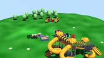 Cartoons about cars Concrete Mixer for developing children's playground cartoon