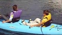 CRAZY zorbing ! FLIP SPORT Walking Ball Race Interboot 2009 - walk on water Fun