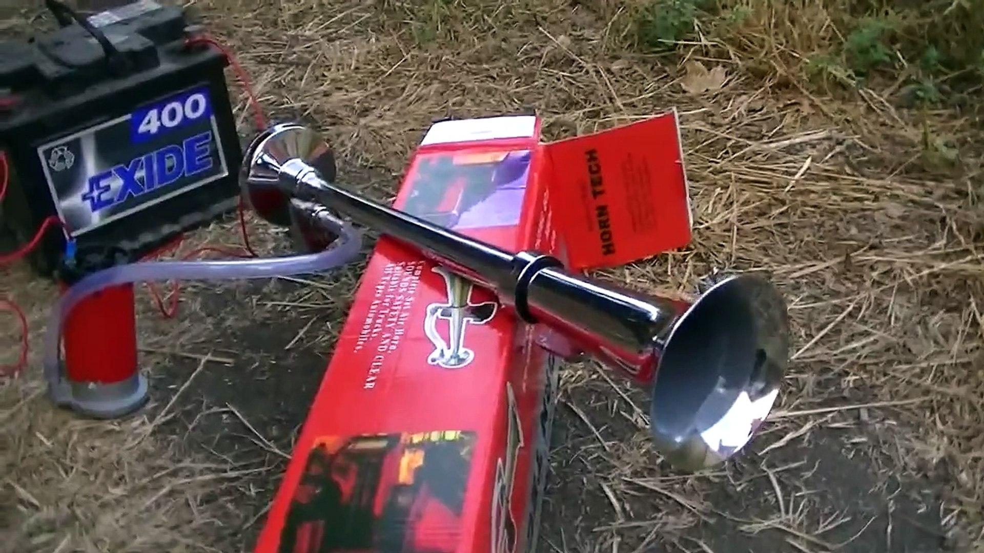 Horn Tech 12v truck air horn.  Pin Trailer Harness Wiring Horn Prank on