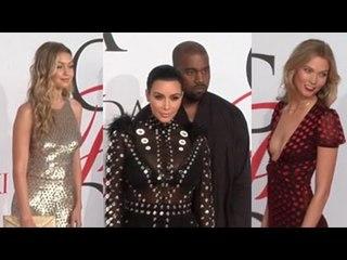 Celebrities Arrive At the 2015 CFDA Awards- Gigi Hadid, Karlie Kloss, Kim Kardashian And More