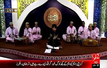 Rehmat e Ramazan - 17 Ramazan – Sehr – Qawwali– Kesa Safar Wo Suhana Hoga – 5-JUL-15 – 92 News HD