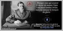 A la veille du 14 juillet 1940, le général de Gaulle s'adresse aux Français