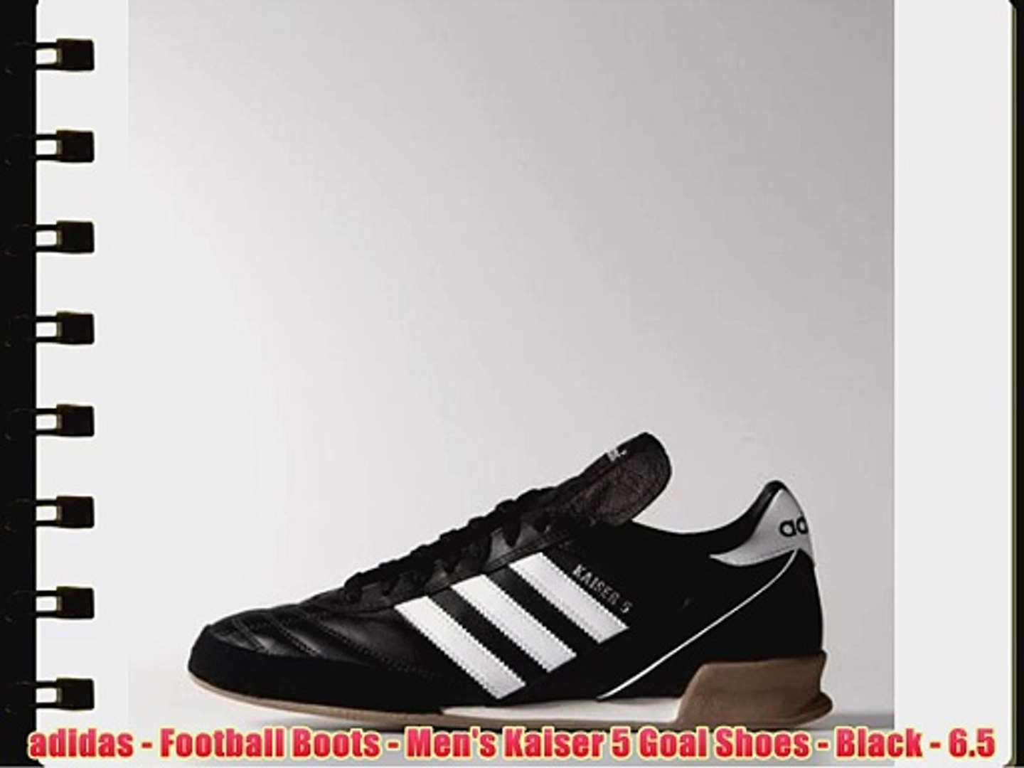adidas Football Boots Men's Kaiser 5 Goal Shoes Black 6.5