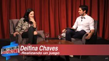 Delfina Chaves jugando con Javier Ponzone