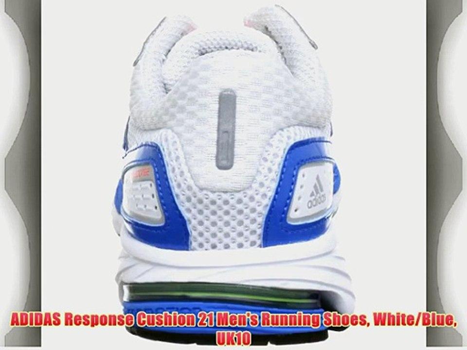 Fresco oficina postal Mentor  ADIDAS Response Cushion 21 Men's Running Shoes White/Blue UK10 - video  Dailymotion