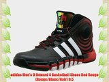 adidas Men's D Howard 4 Basketball Shoes Red Rouge (Rouge/Blanc/Noir) 9.5